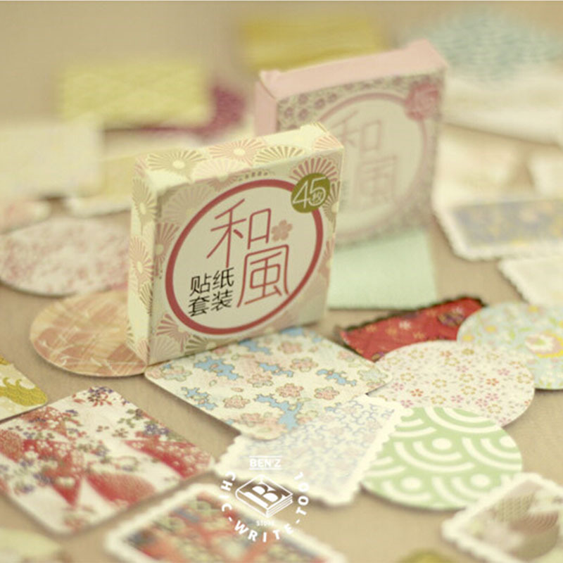 45 Pcs/ Box Mini Momo Flower Paper Sticker Decoration DIY Diary Scrapbooking Sealing Sticker Kawaii  Stationery