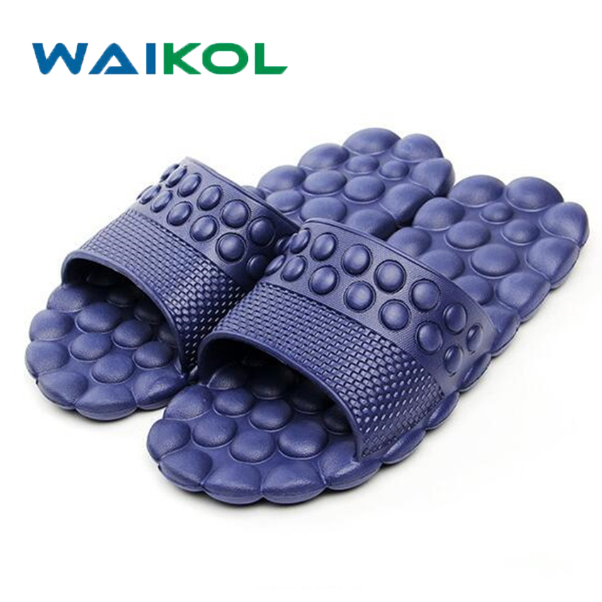 Waikol Summer Women Massage Slippers Ball EVA Flat Non-Slip Sandals Swimming Home Flip Flops Casual Girls Slides Beach Shoes 50%off men shoes summer eva massage foam beach flat sandals non slip bathroom household room indoor home house shoes