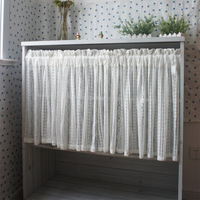 Free shipping Petty Mesh openwork embroidery coffee curtain mesh kitchen curtains for living room bedroom drapes 150*60cm