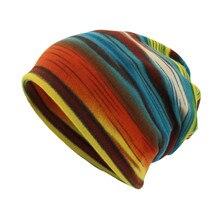 Вязаная шапка унисекс, головной убор в полоску, Шапка-бини, теплые уличные модные шапки для женщин и мужчин, Gorras Para Hombre, Женская шляпка BL