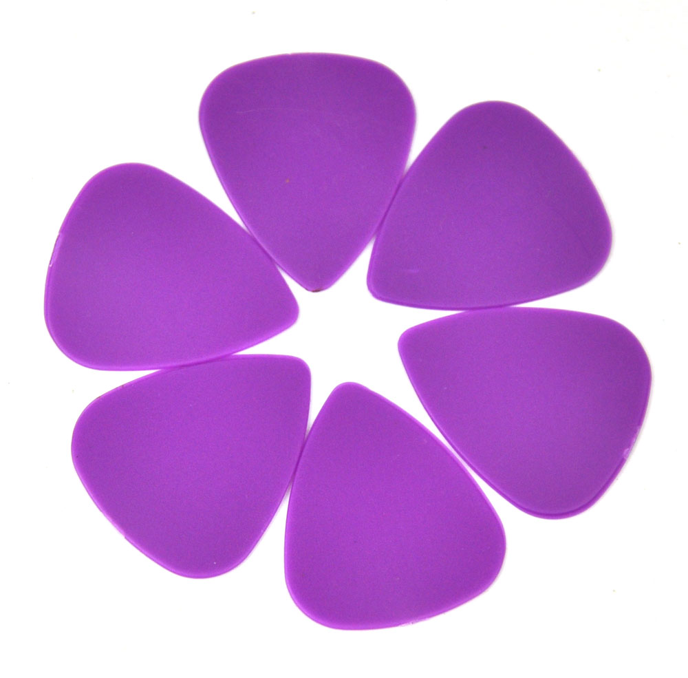 100Pcs New Medium 0.71mm Blank Guitar Picks Plectrums ABS Matter Purple