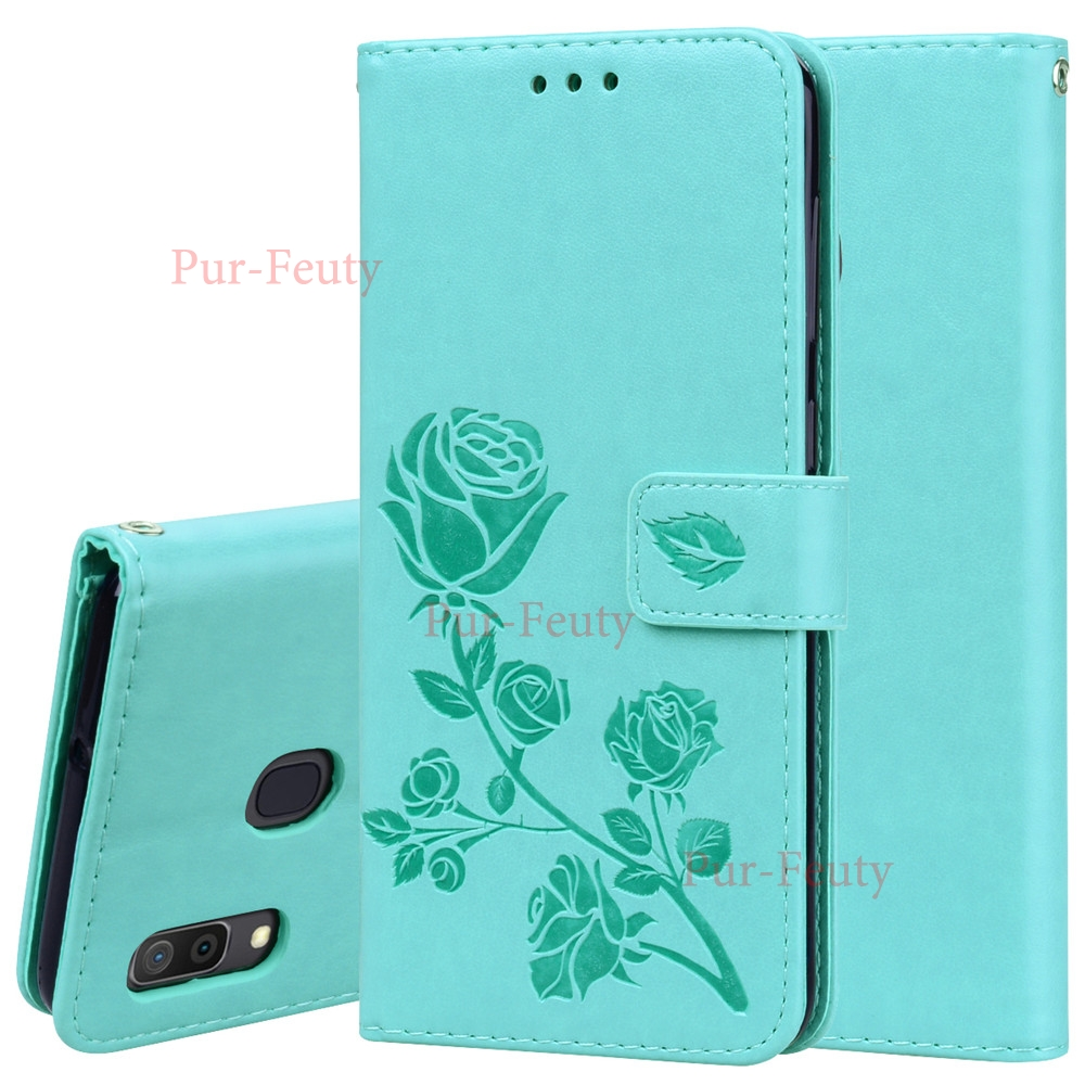 Case For Samsung Galaxy A30 A 30 2019 30A A305F/DS A305FD Flip 6.4 inch 3D Flower Pattern Leather Wallet Covers for Galaxy A30