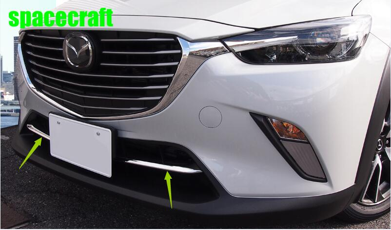 Car front grille trims for mazda cx-3 cx 3 2017 2018,ABS chrome,2pc/lot,car accessories front grille trims for mazda 3 axela