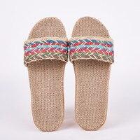 Женские льняные шлепанцы Suihyung, Летние удобные нескользящие шлепанцы с перекрестной шнуровкой, разноцветные
