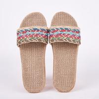 Suihyung/женские льняные тапочки; Летние удобные нескользящие женские домашние шлепанцы; повседневная домашняя обувь с перекрестной шнуровкой...