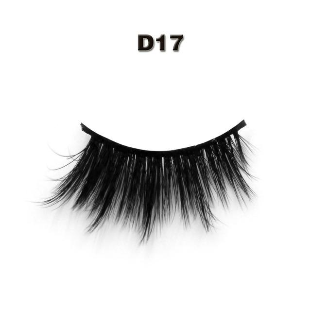 Novo fofo SD17 3D fibra de PBT cílios postiços 100% artesanal de seda sintética extensão cílios de seda 3D