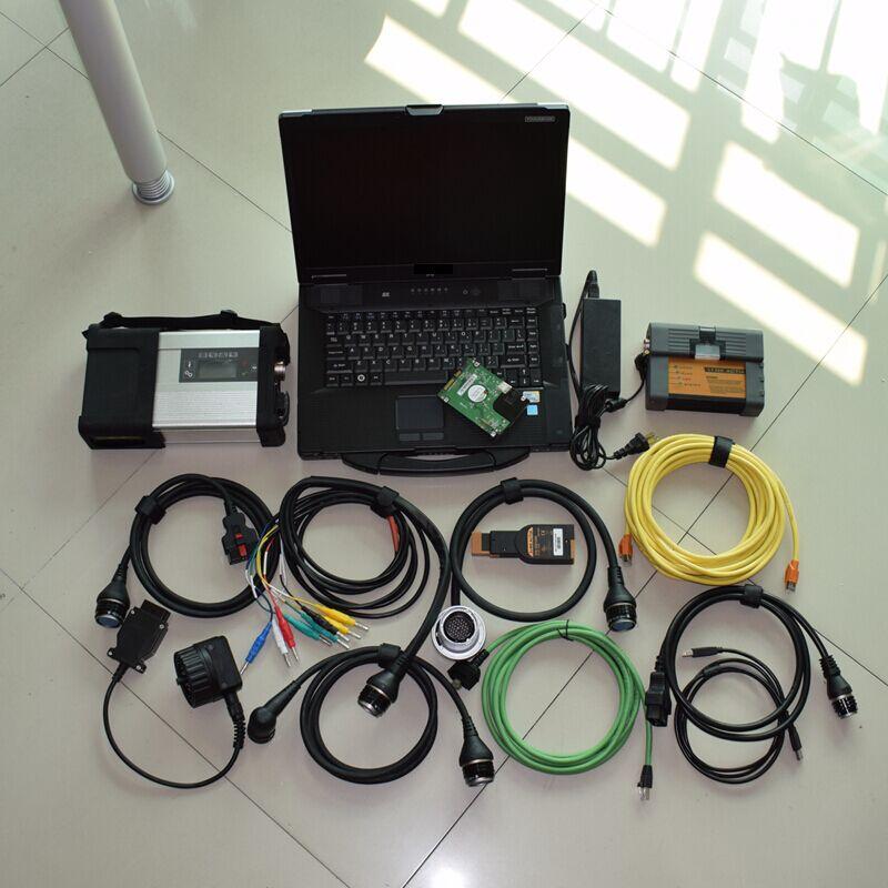 Полный Чипсы MB Star C5 для BMW ICOM A2 B программирования C 2in1 диагностический инструмент с CF-52 ноутбука 1 ТБ HDD программного обеспечения Teamviewer Поддер...