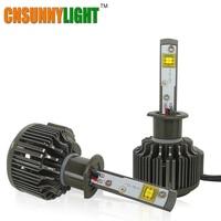 CNSUNNYLIGHT H1 LED Ad Alta Lumen 30 W 3600lm 5500 K Super White con Ventilatore Turbo Auto Faro Kit Luce di Nebbia Per Buicks Lux Mazda