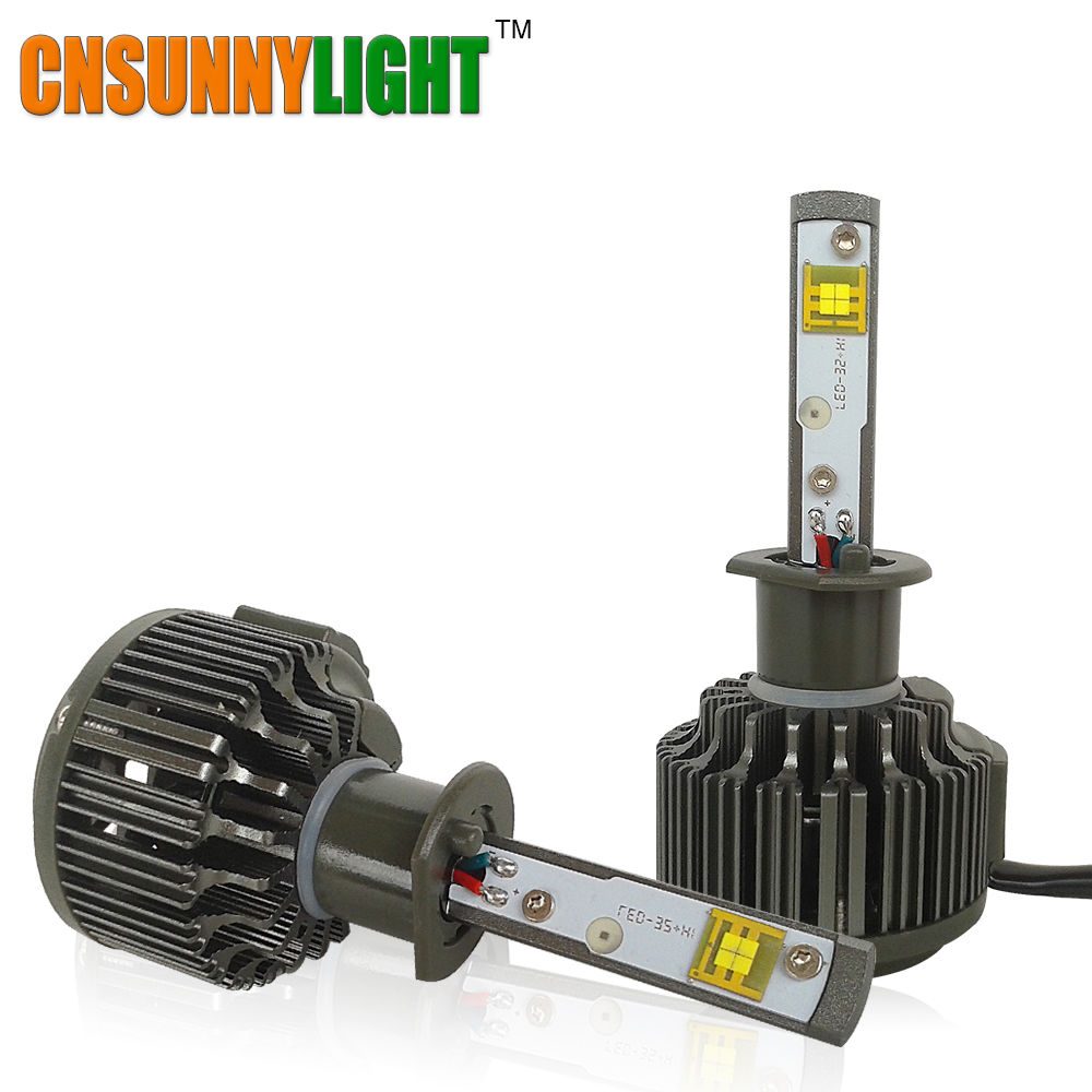 CNSUNNYLIGHT H1 LED haute Lumen 30 W 3600lm 5500 K Super blanc avec Turbo ventilateur Auto phare antibrouillard Kit pour Buicks Luxes Mazda