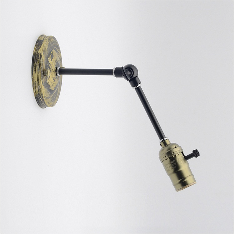 Retro Swing Arm Wall Lamp holder Wall Light Wall Mounted E27 Edison Lamp Holder For Hallway Porch Corridor Aisle