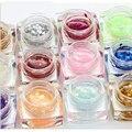 hot sale 12 Colors Huge sequins Style UV Gel Nail Polish Long lasting UV Gel Glitter Nail Gel Polish Soak off Gel Lacquer