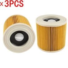 3 pcs filtros de poeira do ar para Karcher Aspiradores peças Cartucho de Filtro HEPA WD2250 WD3.200 MV2 MV3 WD3 filtro karcher