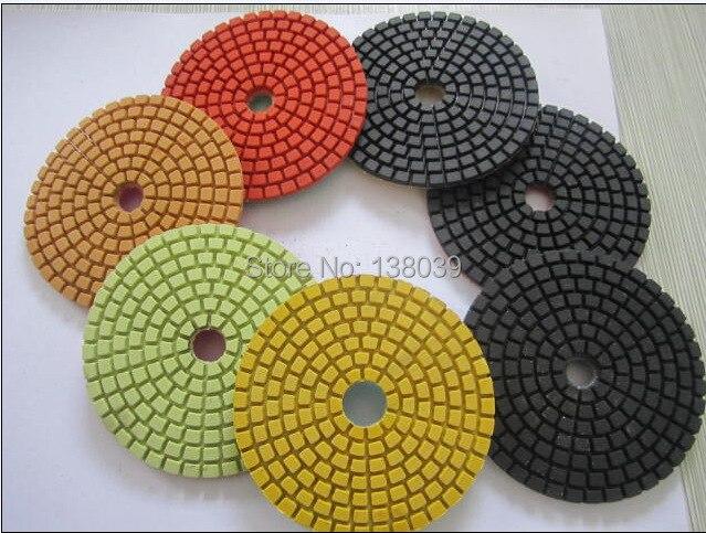 Good Quality Wet  Diamond Polishing Pads 4 Inch Set Kit For Granite Concrete Marble Polish