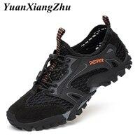 Men's Mesh shoes Outdoor Hiking Shoes Men Casual Shoes Camping Mountain Climbing Shoes Hunting Trekking Sneakers Plus Size 38 45