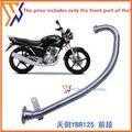 Starpad para modificação tubo de escape acessórios da motocicleta para yamaha ybr125 edifício rua correu espada cotovelo frontal ybr