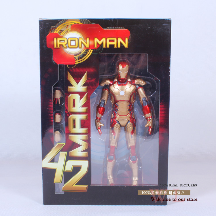 Marvel The Avengers Stark Iron Man 3 Mark VII MK 42 MK43 PVC Action Figure Collection Model Toy 7