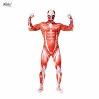 Ainclu Cool Attack on titan Cosplay Shingeki no Kyojin cosplay Colossal Prop Tights Muscle Man Halloween men cosplay costumes