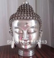 wang 00083 Tibetan Buddhis shakyamuni bronze buddha head statue