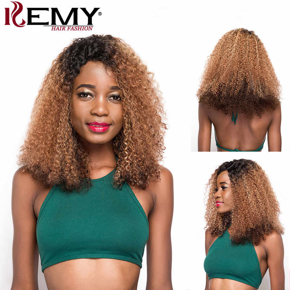 Afro Kinky Curly Human Hair Wigs For Black Women Brazilian Remy U Part Lace Wigs Soft Super Fluffy Long Hair Wigs KEMY HAIR