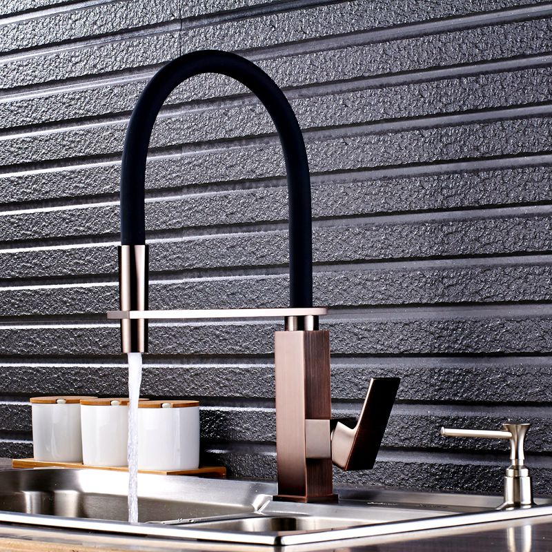 Uythner New Arrival Red Oil Rubbed Bronze Base with Black Hose Nine Model Kitchen Faucet flg new modern accessories european style oil rubbed bronze copper toothbrush tumbler