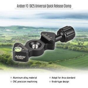"Image 5 - Arca Swiss 1/4 ""및 3/8"" 나사 구멍 삼각대 클램프 그립 용 Andoer SmallRig 플레이트 퀵 릴리스 클램프 RSS 커크 마킹 용 손잡이 형"