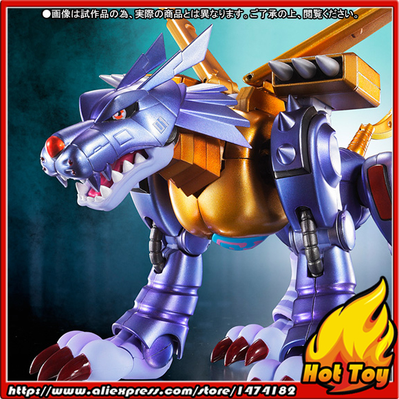 BANDAI Tamashii Nations S.H.Figuarts (SHF) Exclusive Action Figure - Metal Garurumon -Original Designer's Edition- Digimon original bandai tamashii nations robot spirits exclusive action figure rick dom char s custom model ver a n i m e gundam