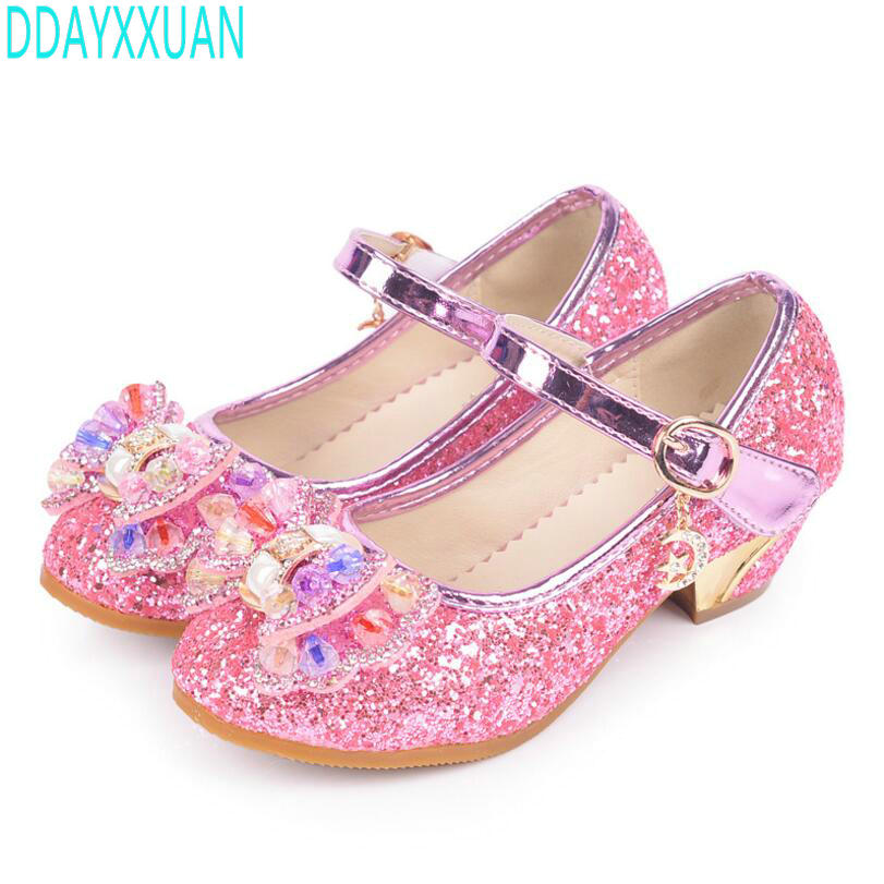 Children new fashion high heels sandals princess style party prom ...