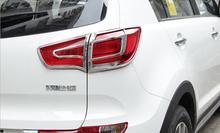 4 шт. Фирменная Новинка ABS Chrome заднего Туман свет лампы Cover планки для Kia Sportage R 2011-2015 автомобиля стайлинг Авто Интимные аксессуары