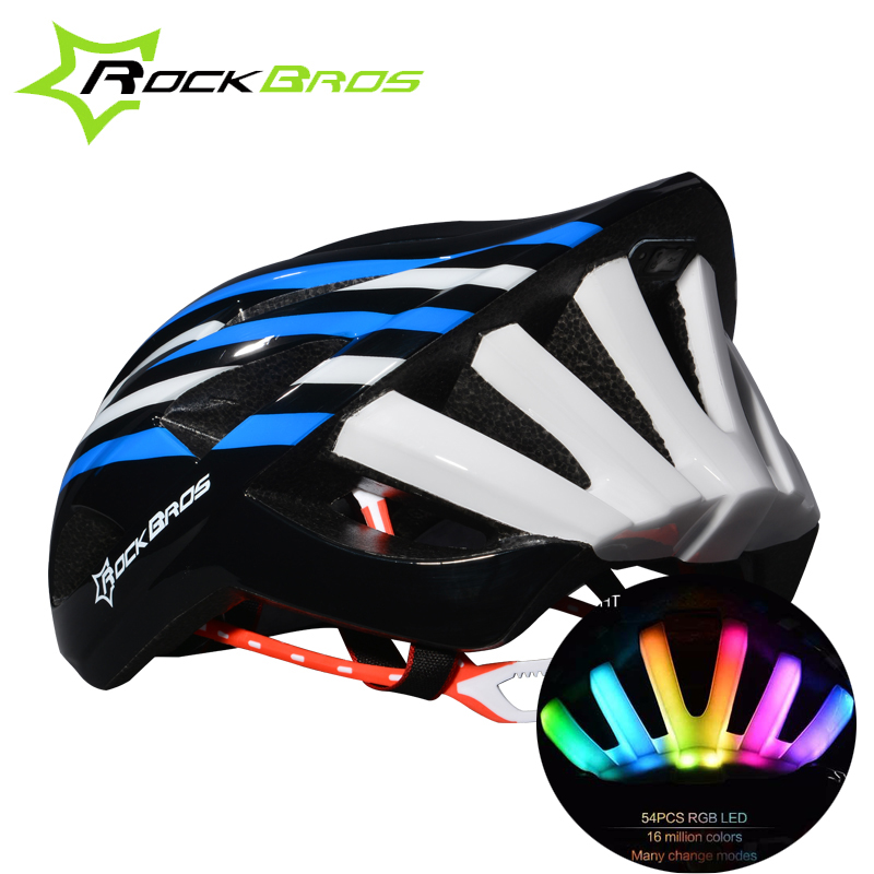 Фотография ROCKBROS Cycling Helmet Integrally-Molded Ultralight MTB Bike Bicycle Helmet Tail Light Outdoor Cycling  Accessories 6 Colors
