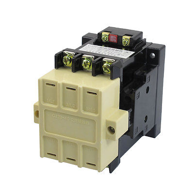 CJ20-40 Motor Control 55A 380V 50Hz Coil 3 Pole 2NO 2NC AC Contactor cj20 25 motor control 25a ac contactor 3 pole 2nc 2no 24v 36v 110v 220v 380v coil voltage