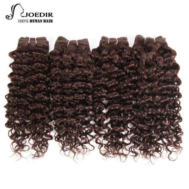 Joedir Brazilian Jerry Curl Human Hair 4 Bundles 190g 1 Pack Non