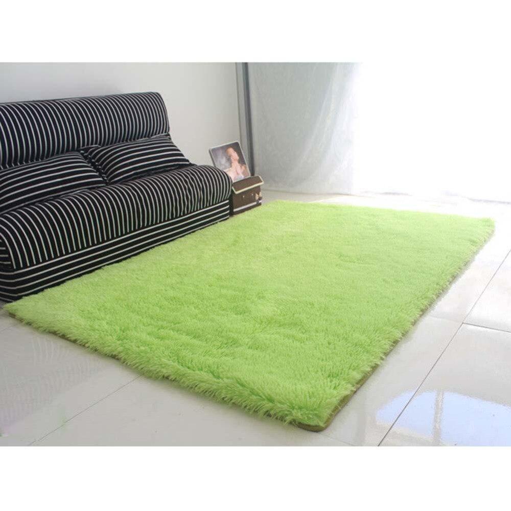 fluffy rugs antiskiding shaggy area rug dining room carpet floor mats green shaggy rugs shag rugs apj - Fluffy Rugs
