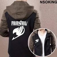 New Spring Autumn Fairy Tail Hoodie Anime Coat Men zipper Jacket