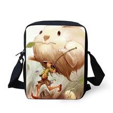 Купить с кэшбэком Comic cartoon Cross body bag Printing Messenger Bag for Men Women Hot Small Cross Body Bag for Ladies Mens Travel Bags