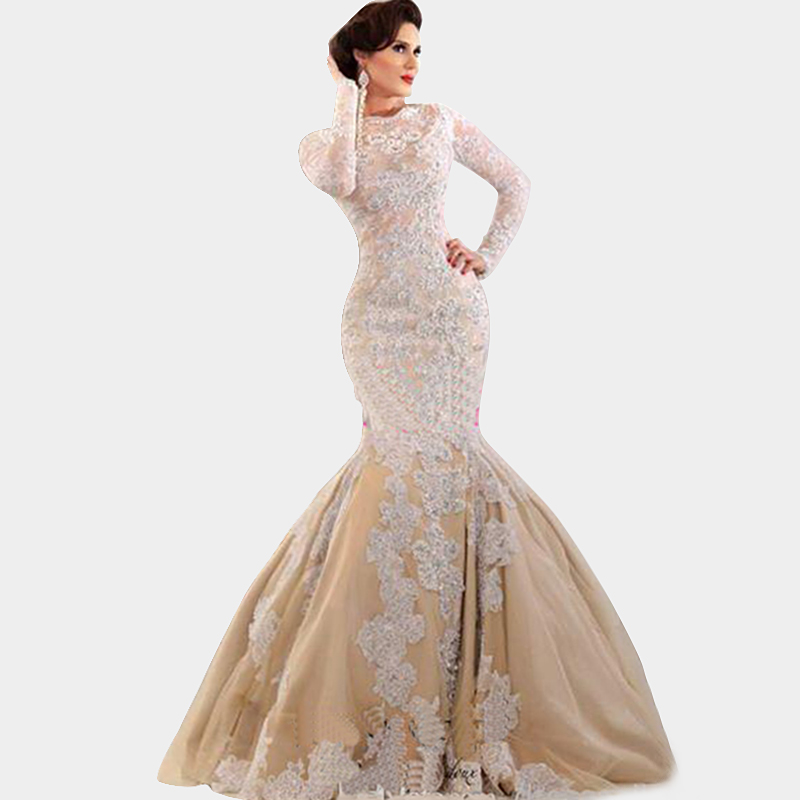 champagne lace corset wedding dress