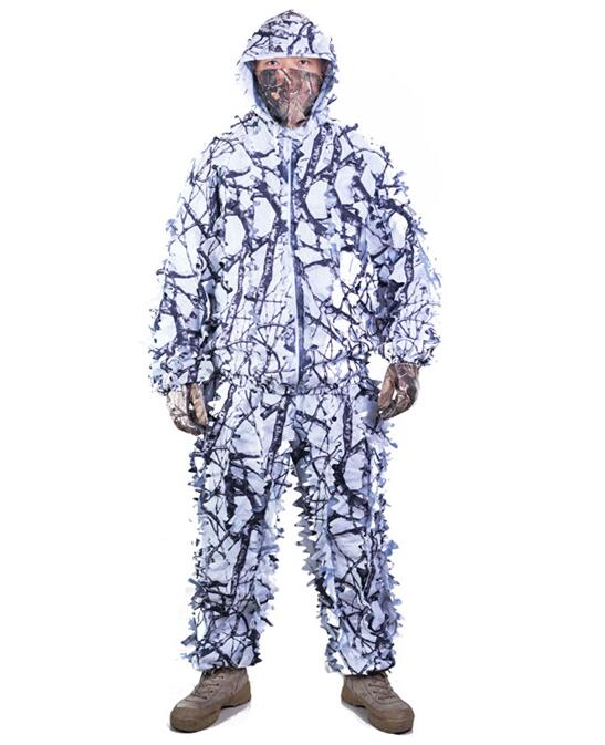 TPRPST Pant Jacket Ghillie-Suit Tree Airsoft-Hunting-Clothes Branches-Style White Camouflage