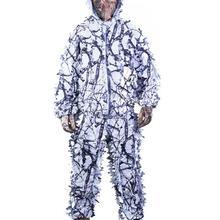 TPRPST 3D белый снег сливы ветви деревьев стиль камуфляж ghillie костюм birdwatch страйкбол охота одежда включает куртку и брюки