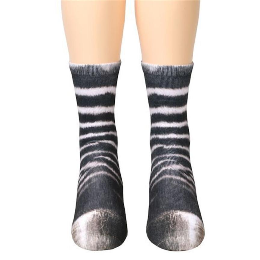 Animal Paw Crew Unisex Socks