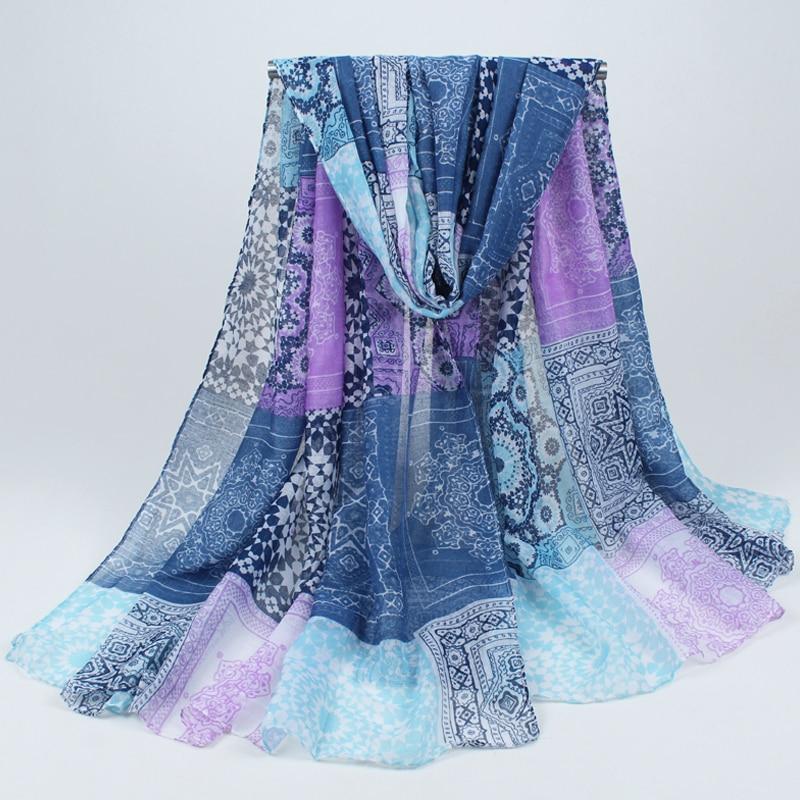 2019 New Fashion Trendy Bohemian Women's Long Print   Scarf     Wrap   Ladies Shawl Girl Large Pretty   Scarf   Tole 6 Styles 018