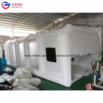 White inflatable spray booth tent with filter stytem,9m*4m*3m inflatable car paint room for sale hot selling paint booth inflatable portable paint booth inflatable car tent inflatable spray booth for car tent toys