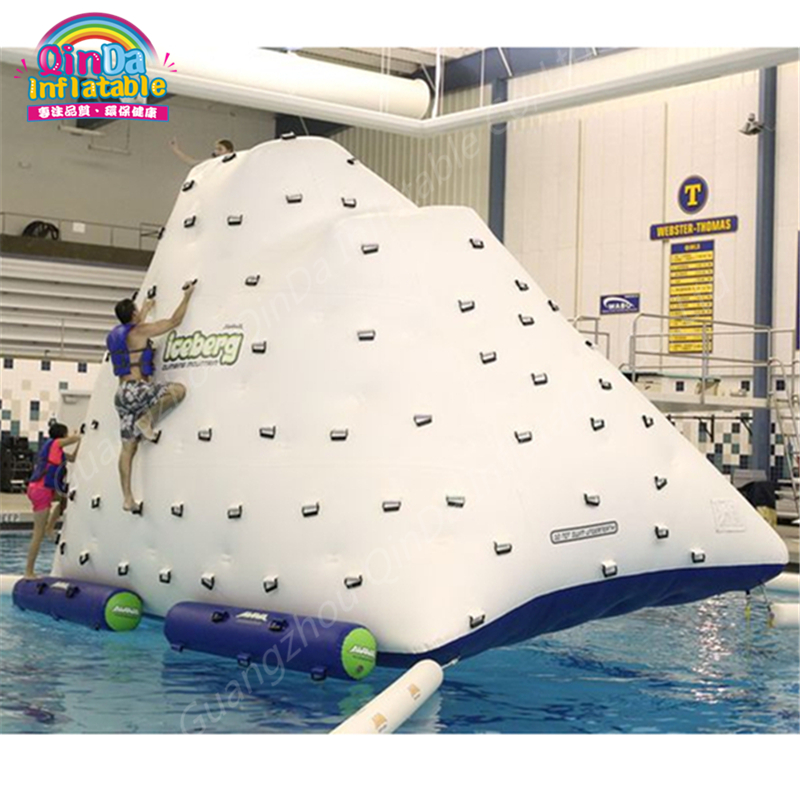 Water Floating Inflatable Water Iceberg ,Water Island Floating Platform Water Park Floating Inflatable Ice Tower Mountain funny summer inflatable water games inflatable bounce water slide with stairs and blowers