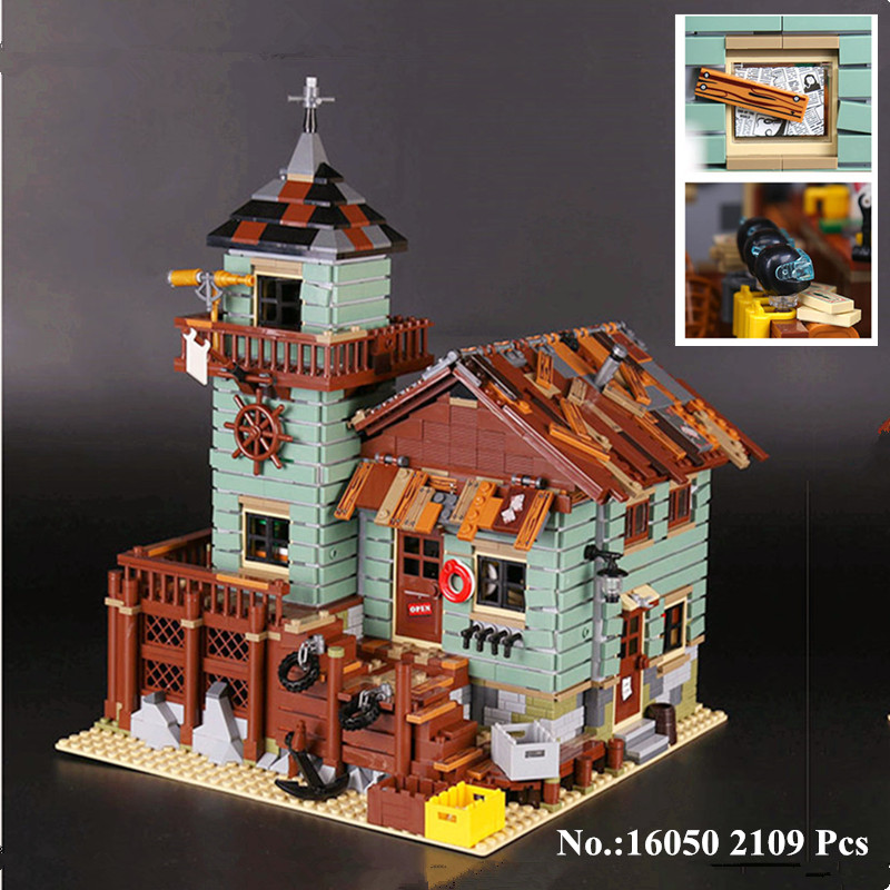 IN STOCK H&HXY 16050 2109Pcs MOC Series The Old Finishing Store Children Educational Building LEPIN Blocks Bricks Toys Model lepin 16050 the old finishing store set moc series 21310 building blocks bricks educational children diy toys christmas gift