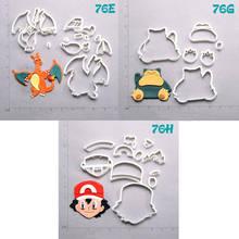 Cartoon TV Pokemon Design Cookie Cutter Set Custom Made 3D Printed Biscuit Kitchen Accessories