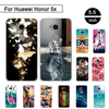 Back Case For Huawei Honor 5X X5 GR5 5.5 inch Phone TPU Cover For Huawei Honor 5 X 5x Silicon Cases Cover Shells For Honor 5 x