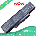 Hot + New 7800 mAh batería del ordenador portátil para ASUS K73 K73E K73J K73S nave motherboard K73SV N71 N71J N71V N73 N73F N73G N73J N73S N73V X77 X77J X77V