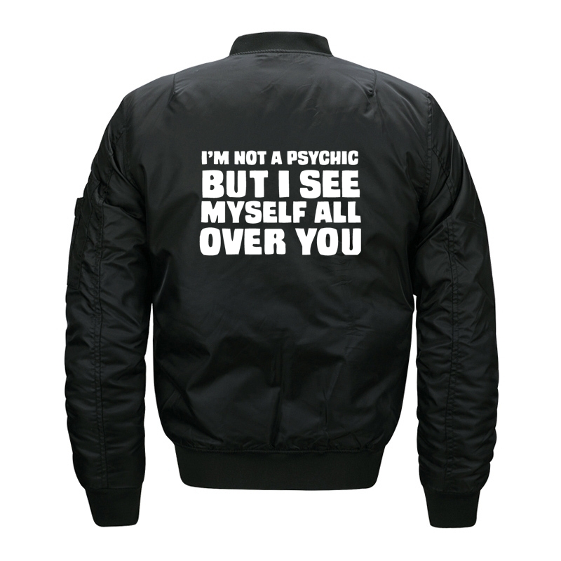 Camila Cabello I am not a psychicJackets Men Baseball For Male Jacket Windbreaker Bomber Plus Size Parka O Neck Autumn C YX9PV#