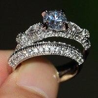 Victoria Wieck Brand Desgin Luxury Jewelry 925 sterling silver White AAA CZ stones Wedding Bridal Women Ring set Gift Size 5 11