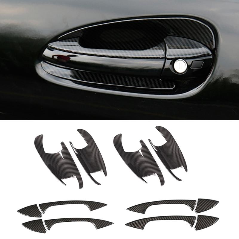 For Mercedes Benz C E GLK ML CLA Class W166 W117 X204 W204 W212 W246 Carbon Texture Car Exterior Door Handle / Bowl Cover Trim