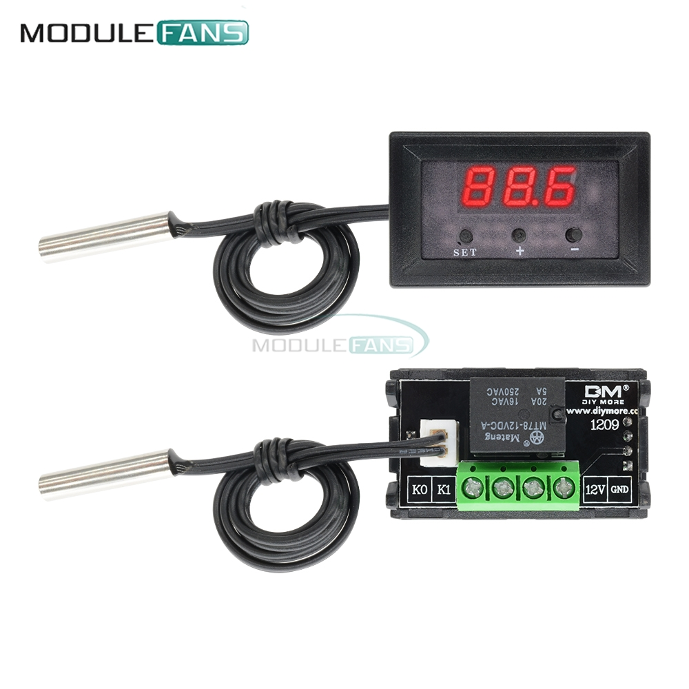 110 Temperature Sensor Control Switch Thermostat Thermometer 50 to DC 12V