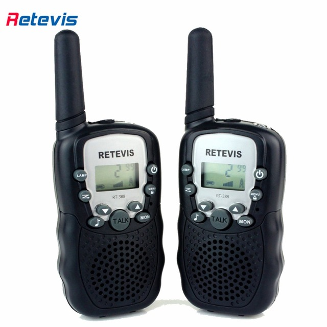 A pair Mini Walkie Talkie Kids Radio Retevis RT-388 0.5W UHF462-467MHz US Frequency Portable Two Way Radio Christmas Gift A7027
